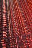 Soundboard no vermelho fotografia de stock royalty free
