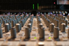 Soundboard in recording studio Royalty Free Stock Photo
