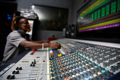 Soundboard in recording studio Stock Images