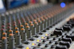 Soundboard. Sound Board in large auditorium Stock Images