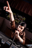 Soundboard technician Royalty Free Stock Photography