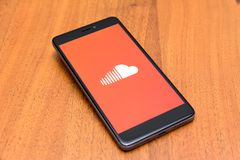 Soundcloud app Στοκ φωτογραφίες με δικαίωμα ελεύθερης χρήσης