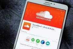 Soundcloud app Στοκ εικόνα με δικαίωμα ελεύθερης χρήσης