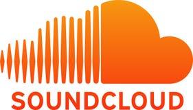Soundcloud logo printed on white paper vector illustration