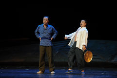 Sounded the gong.- Jiangxi opera a steelyard Stock Images