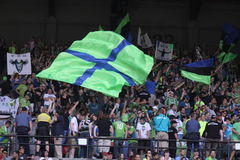 Sounders team flag Royalty Free Stock Photography