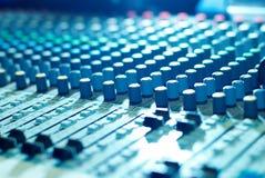 Soundmixer in the nightclub. Sound control panel - soundmixer in the nightclub Stock Image