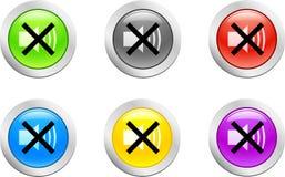 按钮soundoff向量 免版税库存图片