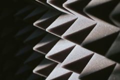 Soundproof panel of polyurethane foam Stock Images