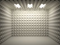 Soundproof room. Empty and clean Royalty Free Stock Photo