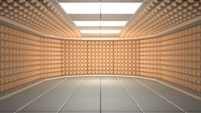 Soundproof room. 3D concept