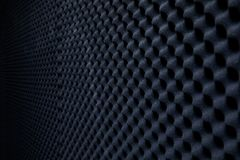 Soundproof wall in sound studio, background of sound absorbing sponge royalty free stock photo