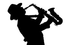 Sounds saxophone Royalty Free Stock Image