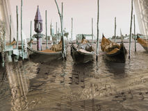 Sounds of Venice, background, illustration Royalty Free Stock Image
