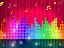 Sounds Waves Background Shows Make Music Or Sing. Sounds Waves Background Showing Make Music Or Sing Royalty Free Stock Images