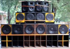 Soundsystem Royaltyfria Foton