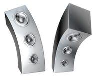 soundsystem déformé métallique du haut-parleur 3d Photo stock