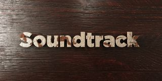 Soundtrack - grungy wooden headline on Maple  - 3D rendered royalty free stock image Stock Image