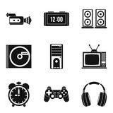 Soundtrack icons set, simple style Royalty Free Stock Image