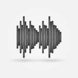 Soundwave black vector icon Royalty Free Stock Images