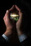 Soundwave Crystal Ball Hand Royalty Free Stock Images