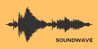 Soundwave diagram Royaltyfria Foton