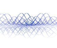 Soundwave fresco con la reflexión Fotos de archivo libres de regalías