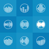 Soundwave icon or logo Stock Images