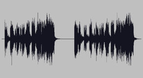 Soundwave illustration vector art Royalty Free Stock Photography