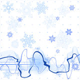 Soundwave & snowflakes. Soundwave, winter background and snowflakes Royalty Free Stock Images