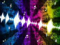 Soundwaves Background Mean Making And Playing Music Stock Image