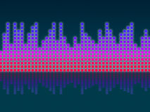 Soundwaves Background Means Making Music And DJing Royalty Free Stock Image