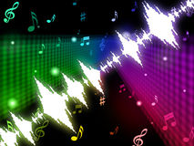 Soundwaves Background Means Making Or Playing Melody Royalty Free Stock Images
