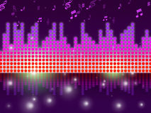 Soundwaves Background Means Song Tune Or Melody. Soundwaves Background Meaning Song Tune Or Melody Royalty Free Stock Photography