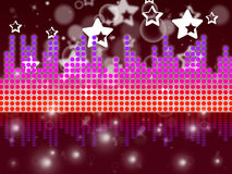 Soundwaves Background Shows Music Singing And Melody Stock Photos