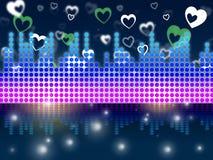 Soundwaves-Hintergrund bedeutet DJ-Sänger Or Instruments Stockfotos