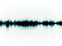Soundwaves op wit Stock Fotografie