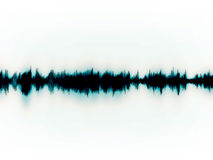 Soundwaves sur le blanc Photographie stock
