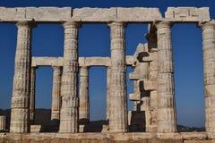 Sounion ο ναός αρχαίου Έλληνα Poseidon Στοκ φωτογραφία με δικαίωμα ελεύθερης χρήσης