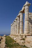 sounion της Ελλάδας ακρωτηρίων Στοκ Εικόνες