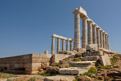 sounion της Ελλάδας ακρωτηρίων Στοκ φωτογραφία με δικαίωμα ελεύθερης χρήσης