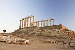 sounion Греции плащи-накидк Стоковые Изображения