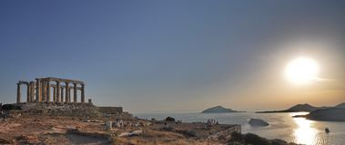 sounion Греции Стоковое Изображение