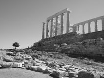Sounion. Ancient Greece Sounion temple Poseidon Royalty Free Stock Photos