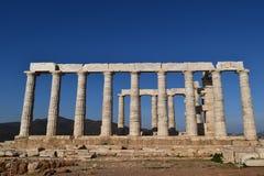 Sounion de oude Griekse tempel van Poseidon Royalty-vrije Stock Foto's