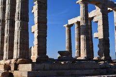 Sounion gammalgrekiskatemplet av Poseidon Arkivfoton