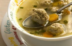 Soup. With meat balls and vegetables Royalty Free Stock Images