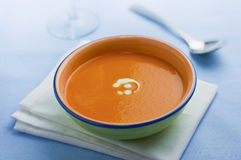 Soup. A bowl of pumpkin soup Royalty Free Stock Images