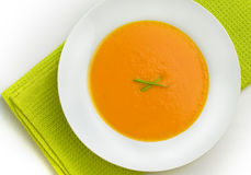 Soup. A bowl of pumpkin soup Royalty Free Stock Photography