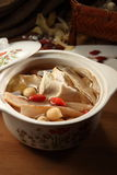 Soup. A pot of nutritious soup with chinese herbs Royalty Free Stock Photography